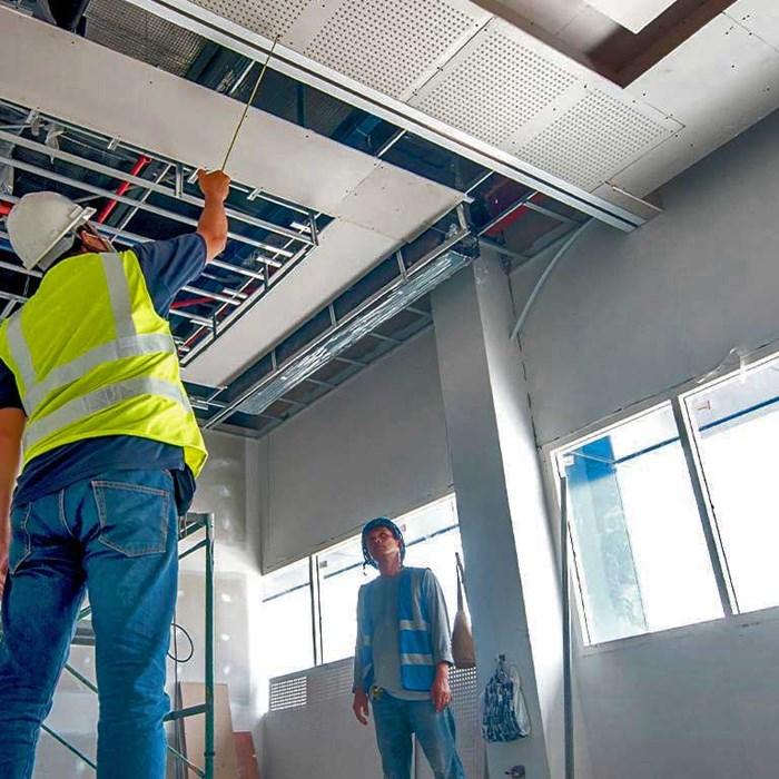 Drywall reduz tempo de construção em obras